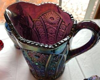 Purple Carnival glass