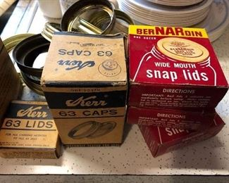 Canning lids, we have jars too
