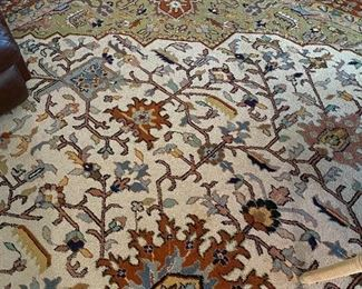 A corner detail of the palace size rug