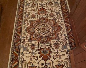 A coordinating runner to the palace size LR rug, 3 x 14