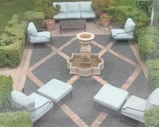 "Restoration Hardware ""Carmel"" patio furniture suite"