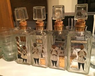 Very cool vintage decanter set.