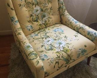 Vintage floral club chair.