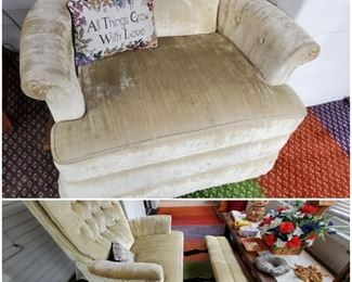 Comfy, compact reclining occasional chair.