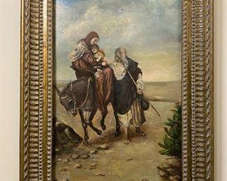 Oil on Metal - 20x29 - D. Huren 1903