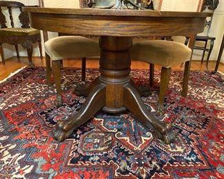 Oak Clawfoot Table