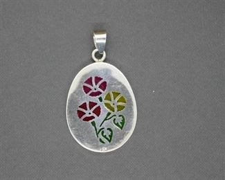 Janna Thomas Sterling Silver Stained Glass Pendant