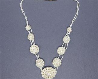 Pearl Victorian Wedding Necklace