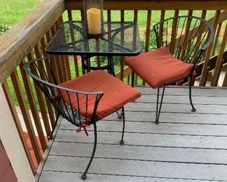 Patio bistro set, there are two of these