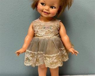 Vintage Ideal Toys 1966 Giggles Doll Flirty Eyes