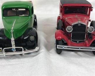 Pair of Die Cast Advertising Model Toy Cars John Deere Campbells Soup