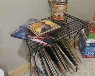 Vintage album rack