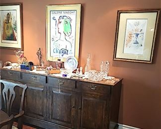 Dining Server Cabinet matching dining room table