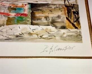 Signed original artwork, Cambier