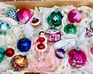 Vintage Christmas ornaments, beautiful skater!