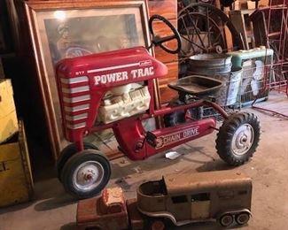 Antique metal toys