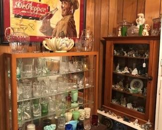 Part of the Heisey collection and antique dogs
