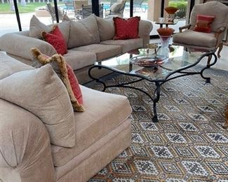 Kreiss couches and chaise