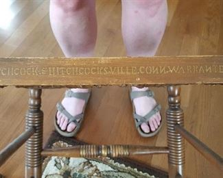 Markings on Hitchcock chairs