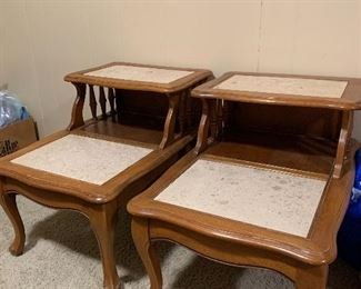 """""""Marble """"top end tables"""