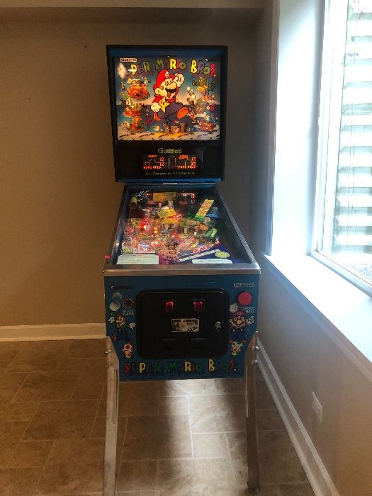 Super Mario Bros Pinball!   Silent Auction - come see this fantastic pinball and place your bid Pick up Saturday after sale  ends