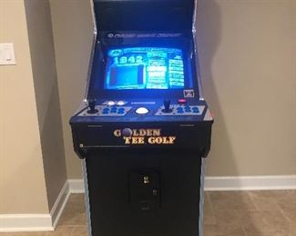 Ultimate Arcade Game includes Golden Tee Golf  Silent Auction on this item. Come see and place your bid on this wonderful item Pick up is Saturday after the sale ends