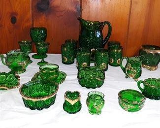 Emerald Green Glass Fostoria priscilla