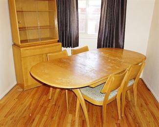Haywood Wakefield table and 4 chairs $1000 BIN