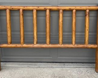 "Gorgeous Solid Pine Log Headboard 80"" Wide"