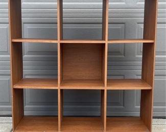 Wood And Veneer Nine Cubicle Storage Cabinet 4 Feet Tall