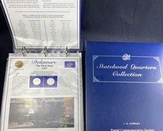 Complete Statehood Quarters Albums w/ Territories