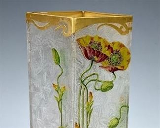 Attributed to Baccarat Art Nouveau Cameo Vase C.1890