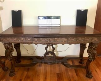 Beautiful carved console table