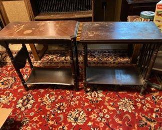 2 Vintage 1930s End Tables