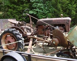 Vintage FarmAll tractor