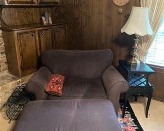large chair & ottoman