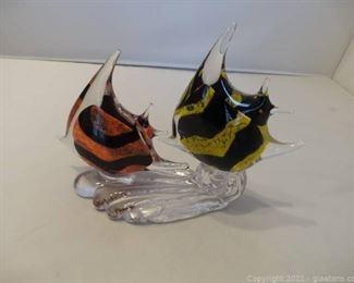Murano Glass Angel Fish Figurine
