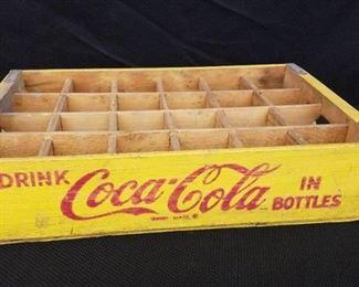 Vintage Coca Cola Wood Bottle Tray