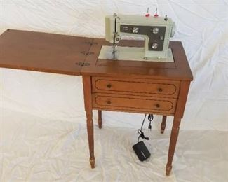 Vintage Sears Kenmore Sewing Machine and Cabinet