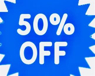 50% OFF SUNDAY   from 12NOON to 3 PM