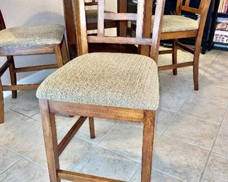 """Detail pic counter height bar stool  Chairs: 17"""" x 18"""" x 40.5""""back height Seat Height: 23.5"""""""