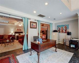 Walnut desks, sofas, beds