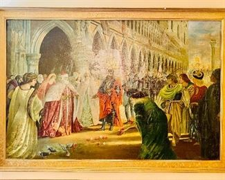 19th c. Continental oil painting