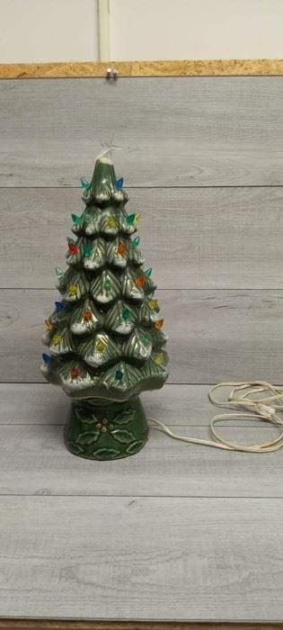 RARE 1950s Ceramic Christmas Tree with Star