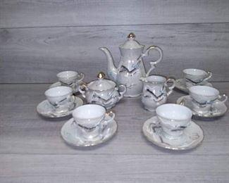 Hand Painted Betson Dragonware Tea Set