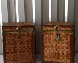 2 Wicker Storage Trunks