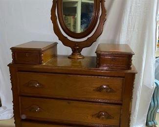 Antique Dresser and mirror