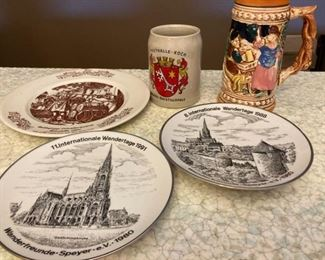 Collectible Plates and Steins