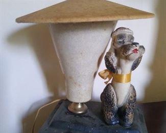 1950s Poodle Lamp