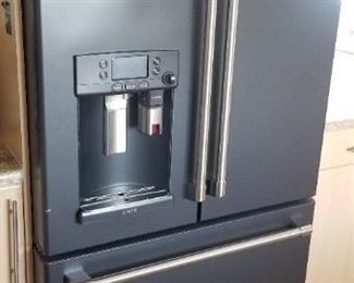 GE Cafe refrigerator model CYE22UELDDS has a built-in Keurig K-Cup brewing system!